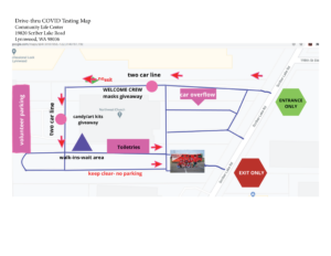 Covid Testing site Map for Dec. 5, 2020