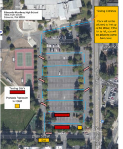 COVID Testing Site Map for EWHS Dec. 8, 2020